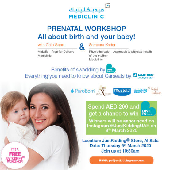 Prenatal Workshop – All about Birth and your Baby!